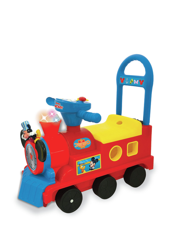 Kiddieland: Play & Sort Train Activity Ride-On - Mickey Mouse