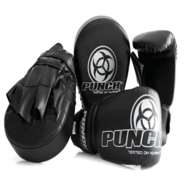 Punch Equipment Boxing Gloves Urban Combo Pack Black - Small