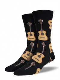 Mens Guitars Socks - Black