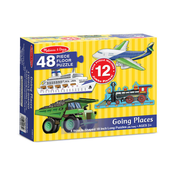 Melissa & Doug: Going Places Floor Puzzle set 4