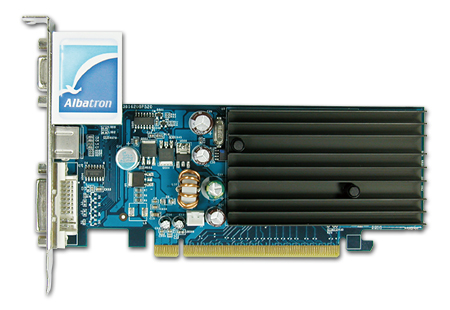 ALBATRON 7100GS 128MB DDR2 TV OUT PCIE image