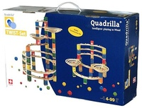 Quadrilla Wood Marble Run - Twist Core Set 206pc image