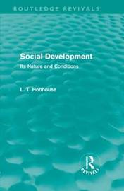 Social Development by L.T. Hobhouse image