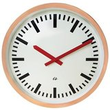 Wall Clock Copper with Red Hand