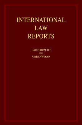 International Law Reports 160 Volume Hardback Set: Volume 124