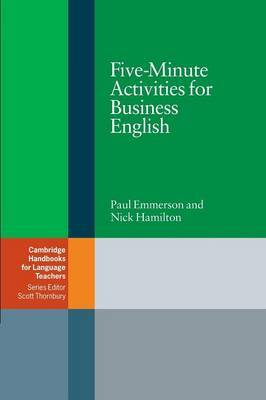 Five-Minute Activities for Business English by Paul Emmerson image