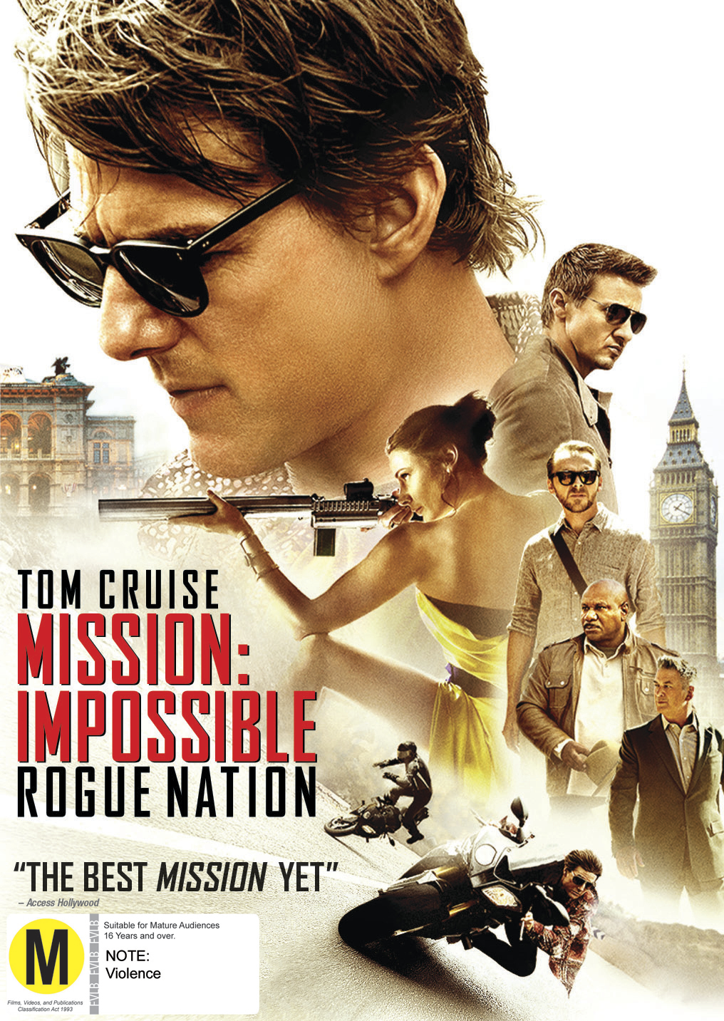 Mission Impossible 5 - Rogue Nation on DVD image