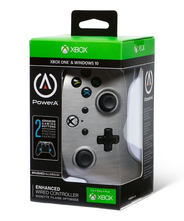 Xbox One Enhanced Wired Controller - Brushed Aluminum for Xbox One