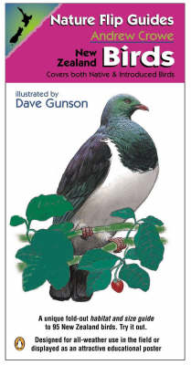 Nature Flip Guides: New Zealand Birds: Covers Both Native and Introduced Birds by Andrew Crowe image