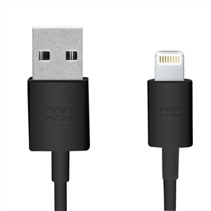 1.2M Promate USB Sync and Charging Cable - Black