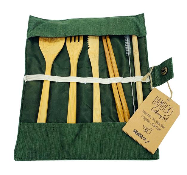 Moana Road: Eco Cutlery Set - Olive