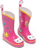 Kidorable Lucky Cat Rain Boots (Size 8)