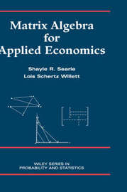 Matrix Algebra for Applied Economics by Shayle R Searle image