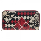 Harley Quinn Large Zip Around Wallet