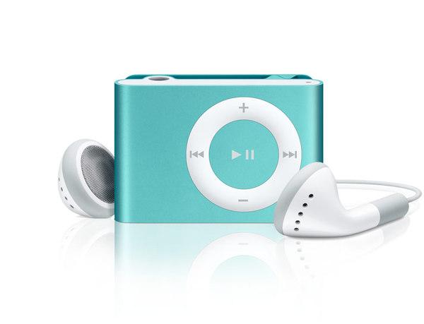 Apple - iPod shuffle 1GB - 3rd Gen - Blue image