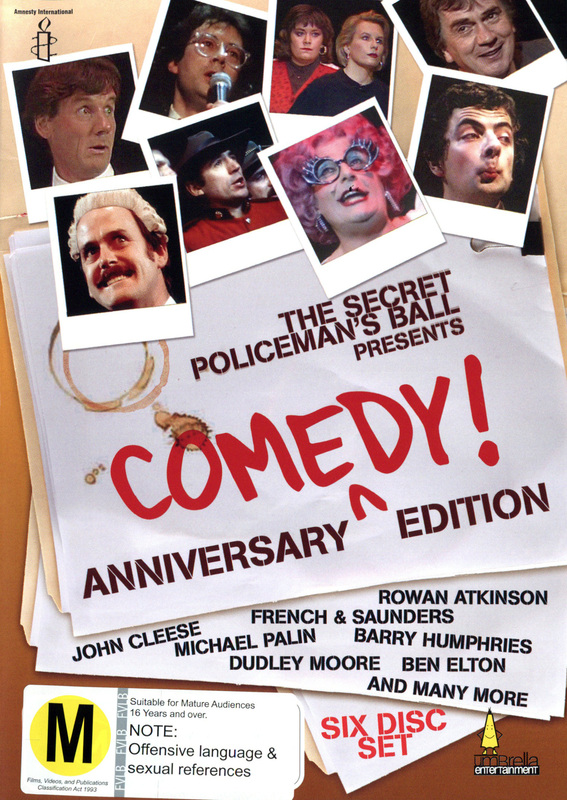 The Secret Policeman's Ball Presents - Anniversary Comedy! Edition (6 Disc Box Set) on DVD