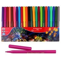 Luna - Fibre Tip Pens: 2mm 24 Pack Pencil Wallet
