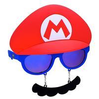 Sunstaches: Costume Sunglasses - Mario Mustache