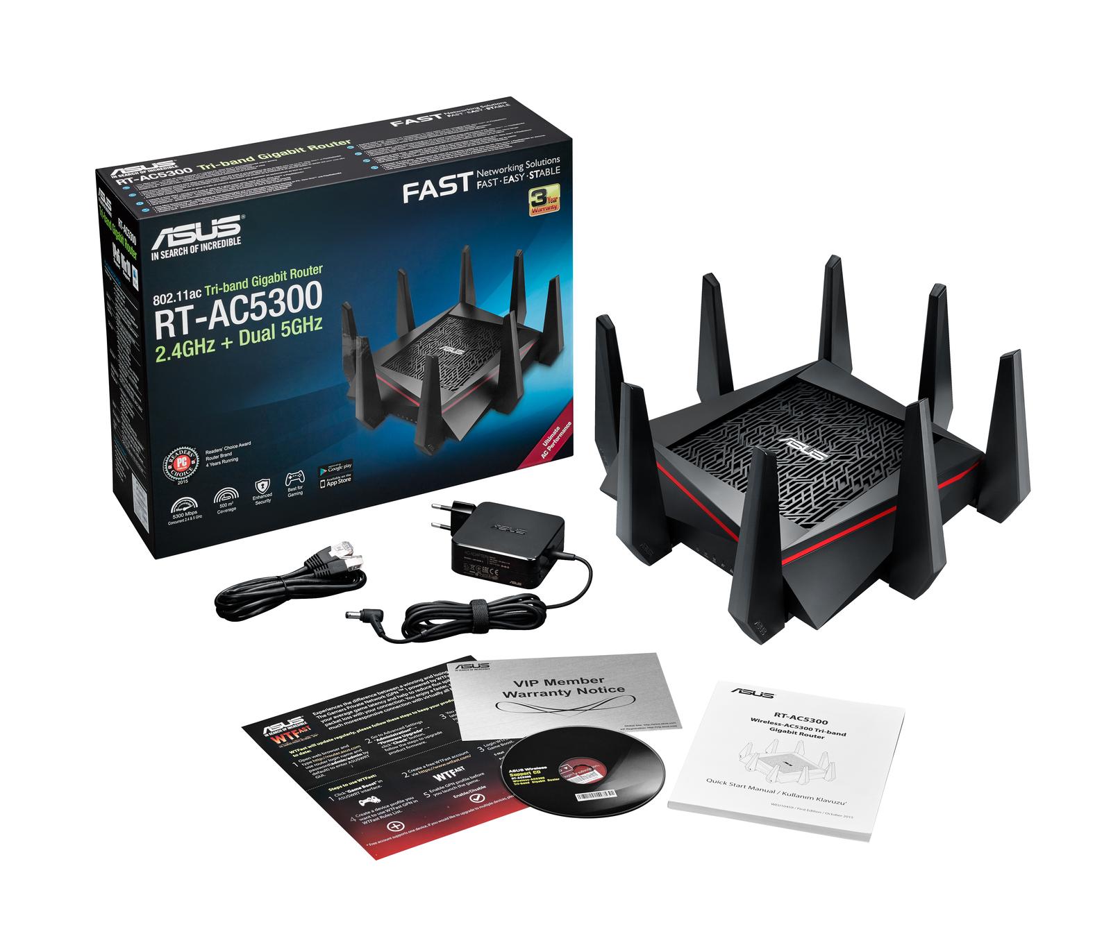 Asus Wireless Tri-Band Gigabit Router - FIBRE Ready image