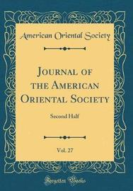 Journal of the American Oriental Society, Vol. 27 by American Oriental Society image