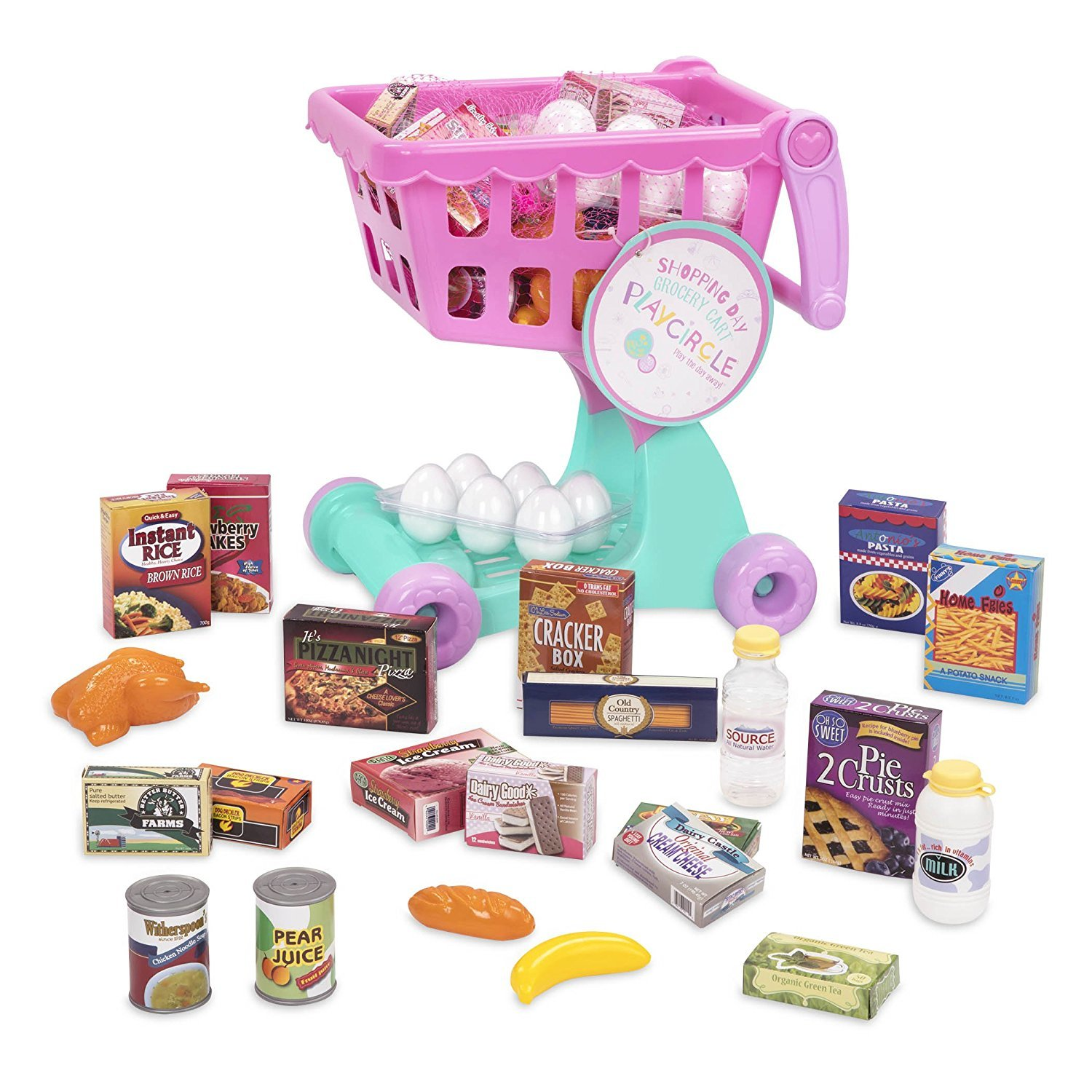 Play Circle: Shopping Cart & Groceries - Roleplay Set image