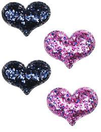 Pink Poppy: Sparkle Glitter Heart - Hair Clips (Assorted Designs)