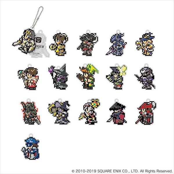 Final Fantasy XIV: Rubber Keychain <Dot Characters> - Blind Box