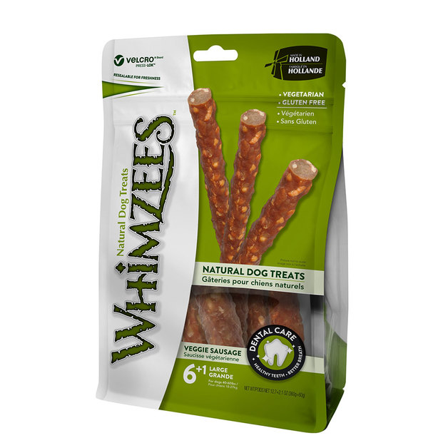 Whimzees: Veggie Sausage - L7/Pack Value Bag