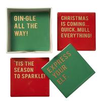 Set of 4 Christmas Coasters image