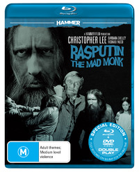 Hammer Horror: Rasputin - The Mad Monk on DVD, Blu-ray