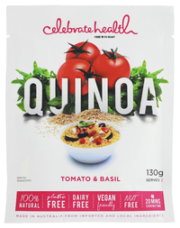 Celebrate Health - Tomato & Basil Quinoa (130g)