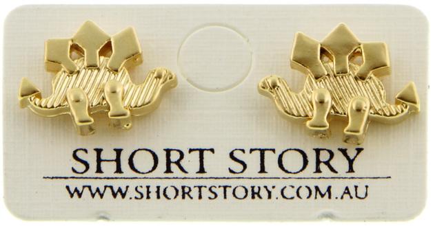 Short Story: Stegosaurus Earrings - Gold