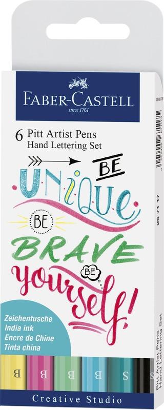 Faber-Castell: Pitt Artist Pens Hand Lettering Pastel (Set of 6)