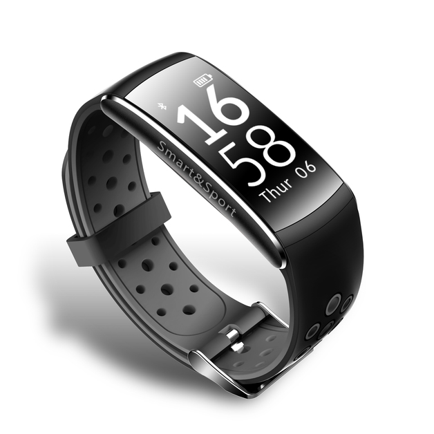 Waterproof Fitness Activity Tracker w/ Swimming Mode - Black