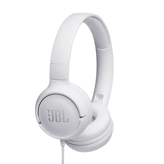 JBL T500 Wired Headphones - White