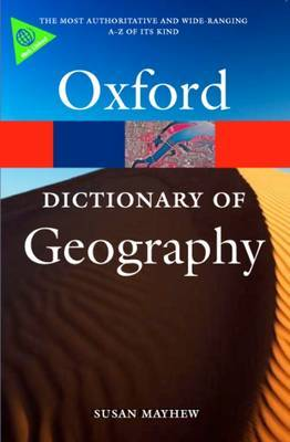 A Dictionary of Geography by Susan Mayhew image