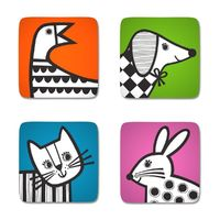 Jane Foster Animal Magic Coasters (Set of 4)