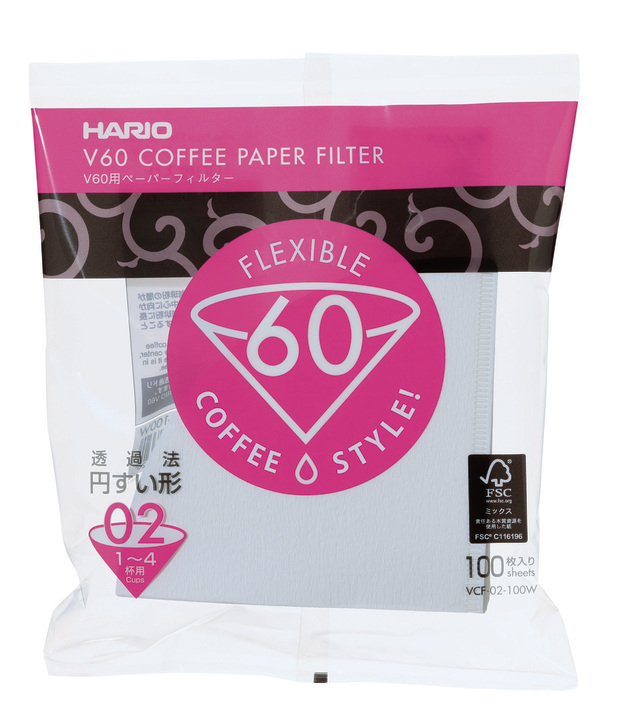 Hario: V60 Coffee Paper Filters - White