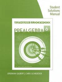 Student Solutions Manual for Aufmann/Lockwood's Prealgebra: An Applied Approach by Richard N Aufmann