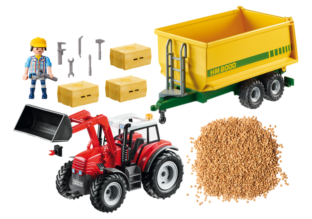 Playmobil: Country - Tractor with Feed Trailer (70131)