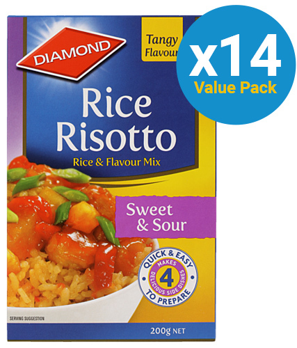 Diamond: Rice Risotto Sweet & Sour 200g (14 Pack)