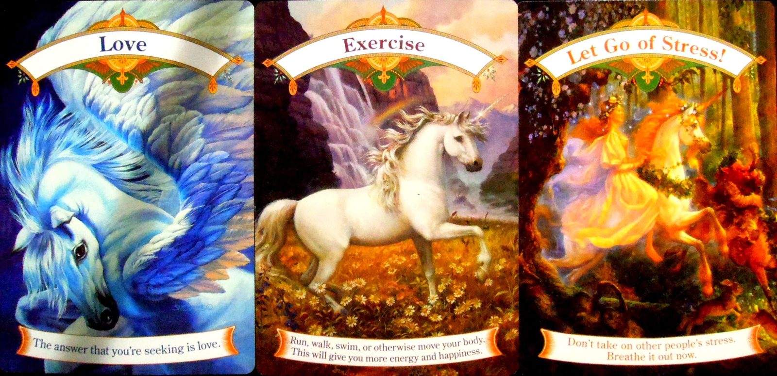 Magical Unicorns Oracle Cards (Deck & Guidebook) by Doreen Virtue image