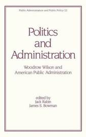 Politics and Administration by Jack Rabin image