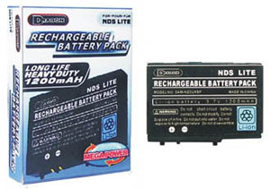 Rechargeable Battery Pack DS Lite (1200mAH) for Nintendo DS