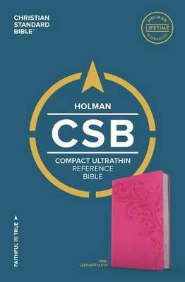CSB Compact Ultrathin Bible, Pink LeatherTouch by Csb Bibles by Holman