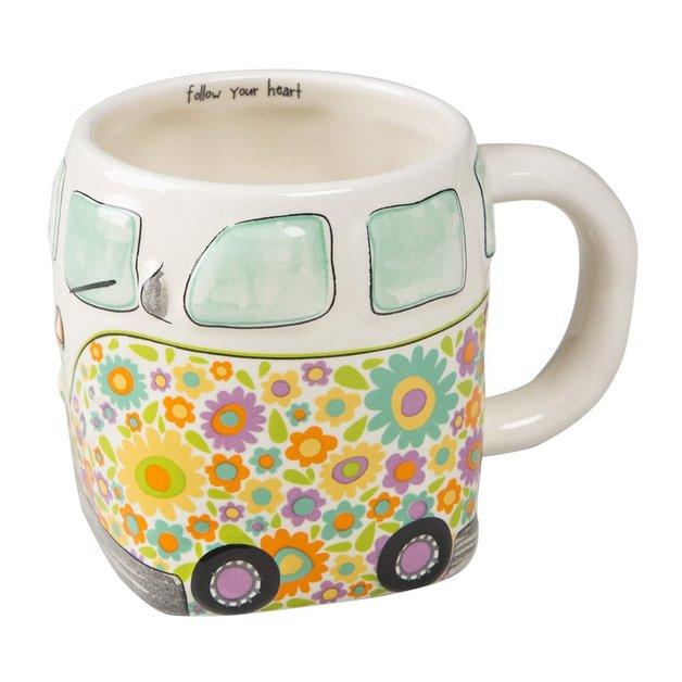 Natural Life: Ceramic Folk Mug - Follow Heart