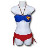 Supergirl Bandeau Lace-Up Bottom Bikini (Large)