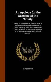 An Apology for the Doctrine of the Trinity by David Simpson image