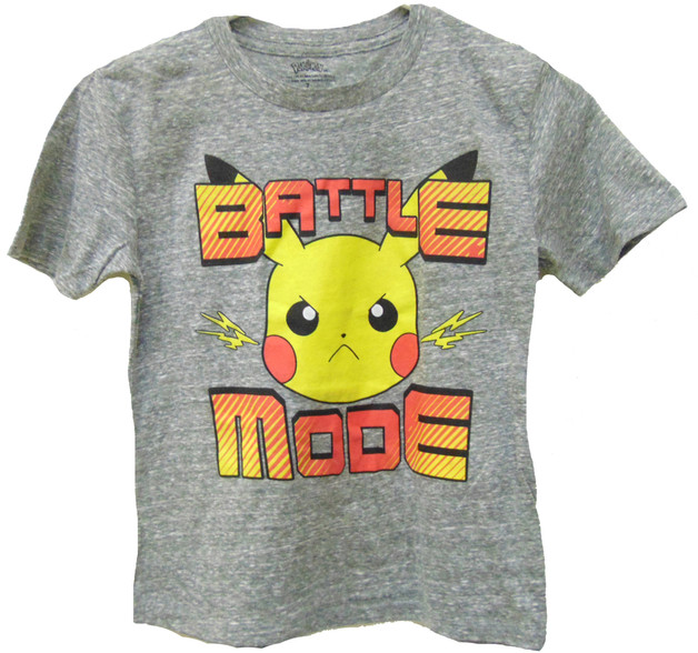 Pokemon Battle Mode T Shirt (Size 5/6)