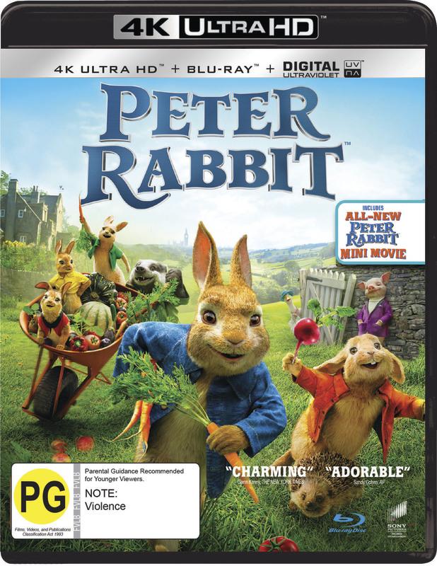 Peter Rabbit (4K UHD + Blu-ray) on Blu-ray, UHD Blu-ray